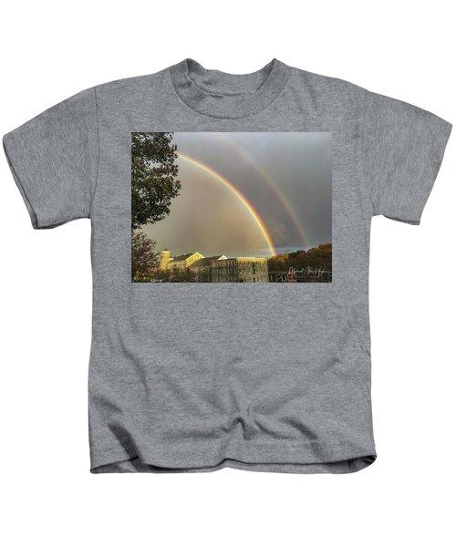 Thread City Double Rainbow  Kids T-Shirt