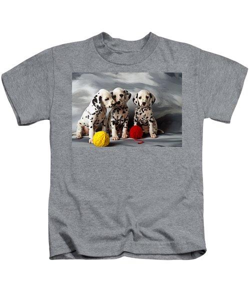 Three Dalmatian Puppies  Kids T-Shirt