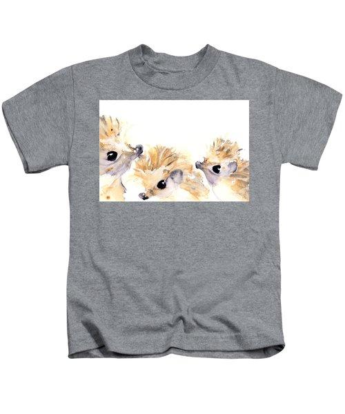 Three Hedgehogs Kids T-Shirt