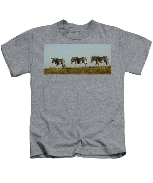 Three On The Horizon Kids T-Shirt