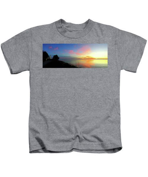 Sunset At Tibbetts Point Light, 2015 Kids T-Shirt
