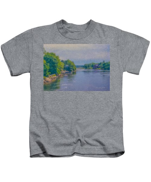 Tidal Inlet In Southern Maine Kids T-Shirt