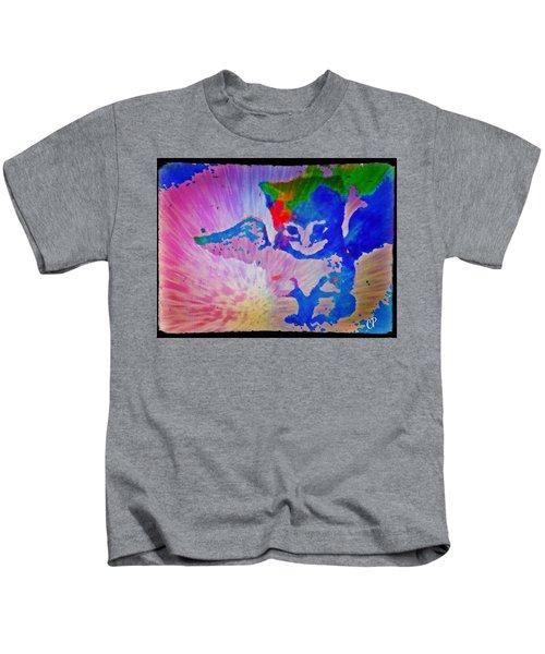 Tie Dye Tiger Kids T-Shirt