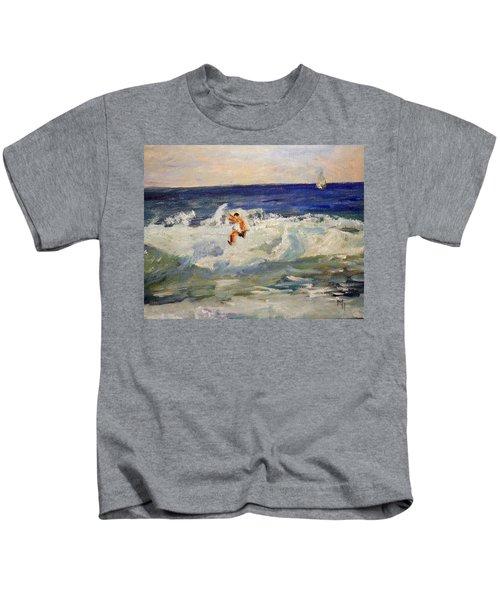 Tightrope Walking The Waves Kids T-Shirt