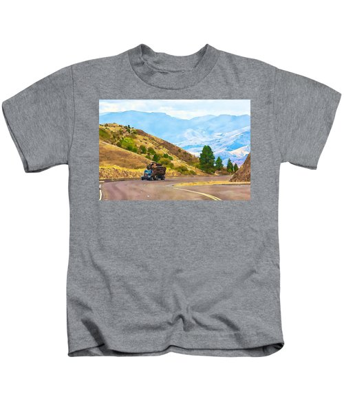 Timbers Truck In Idaho Kids T-Shirt
