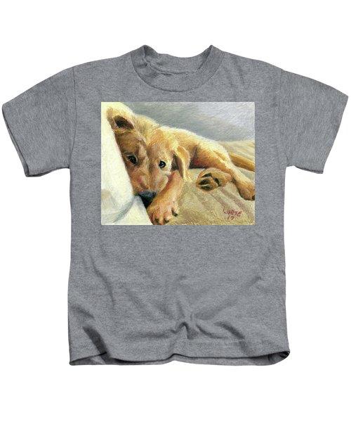 Tired Puppy Kids T-Shirt