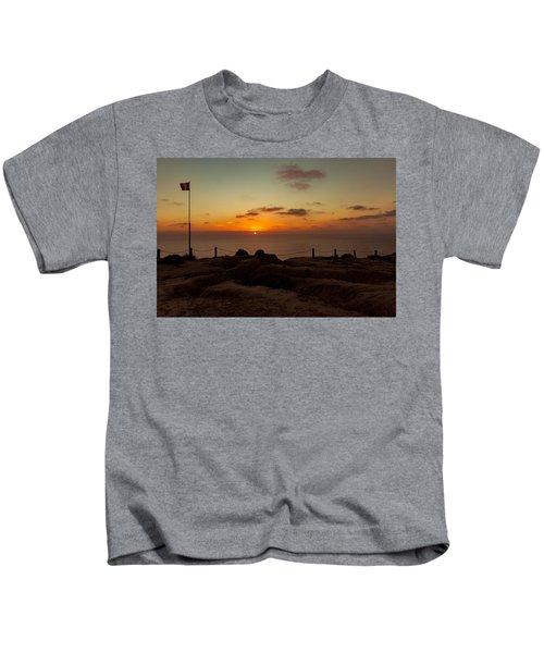 Torrey Pine Glider Port Sunset Kids T-Shirt