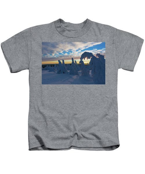 Touched From The Winter Sun Kids T-Shirt