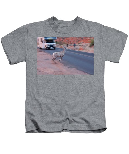 Tourists Intrusion In Nature Kids T-Shirt