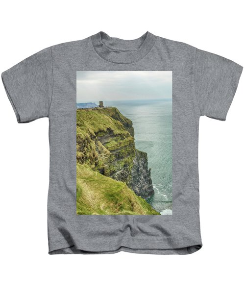 Tower At The Cliffs Of Moher Kids T-Shirt