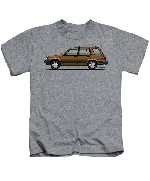 Toyota Tercel Sr5 4wd Wagon Al25 Bronze Kids T-Shirt