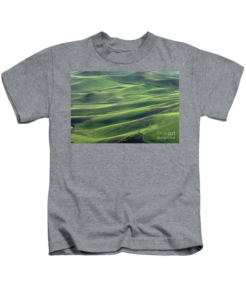 Tractor Tracks Agriculture Art By Kaylyn Franks Kids T-Shirt