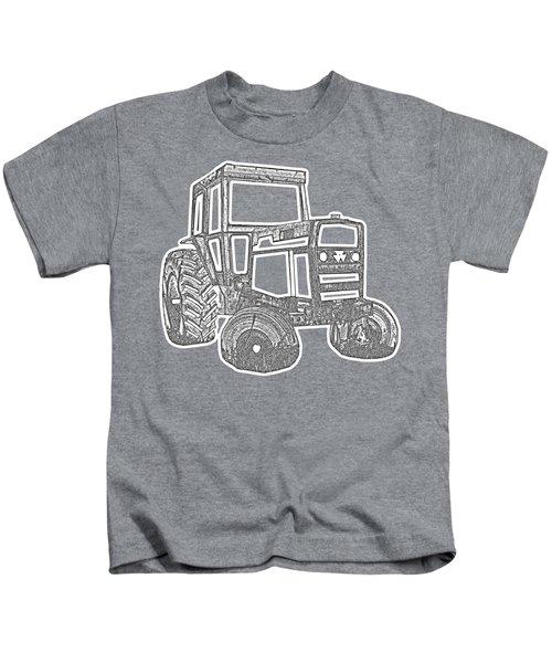 Tractor Transparent Kids T-Shirt