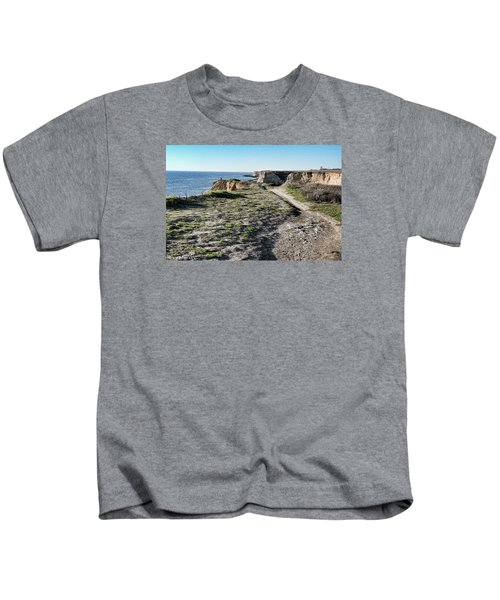Trail On The Cliffs Kids T-Shirt