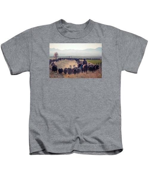 Trailing The Herd Kids T-Shirt
