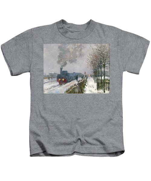 Train In The Snow Or The Locomotive Kids T-Shirt