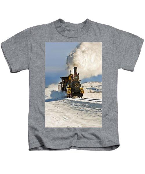 Train In Winter Kids T-Shirt