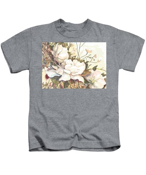 Tranquility Study In White Kids T-Shirt