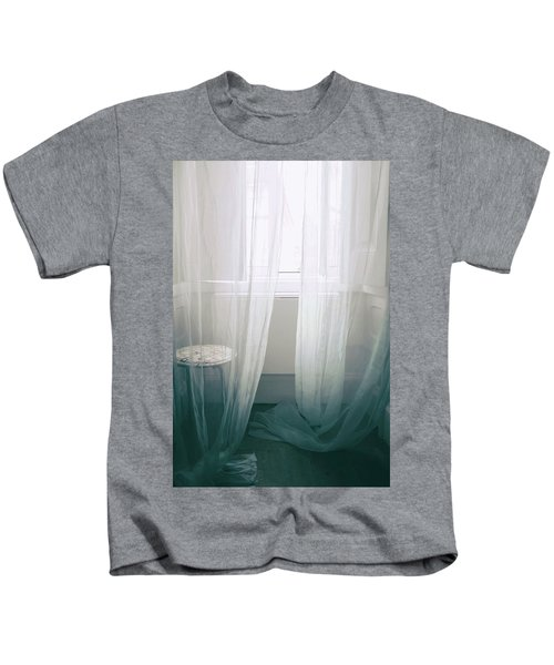 Transparent White Curtains Kids T-Shirt