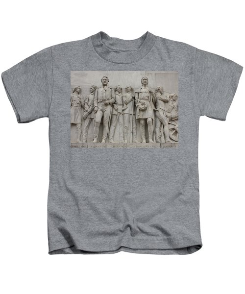 Travis And Crockett On Alamo Monument Kids T-Shirt