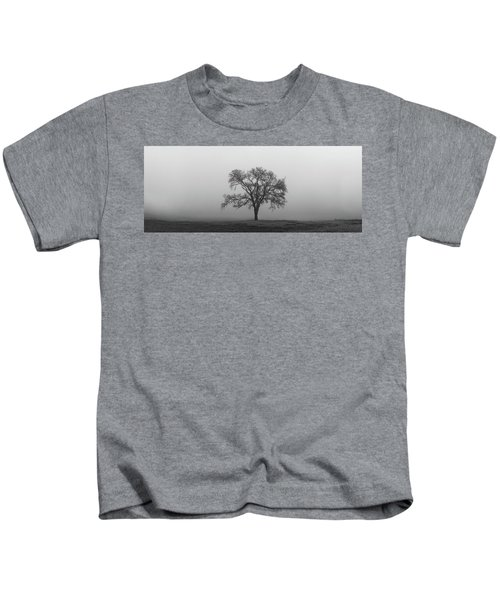 Tree Alone In The Fog Kids T-Shirt