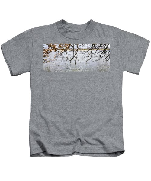 Tree Branches Over Lake Kids T-Shirt