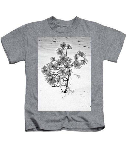 Tree In Winter Kids T-Shirt