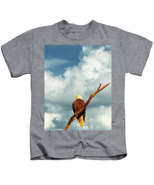 Tree Top Eagle  Kids T-Shirt