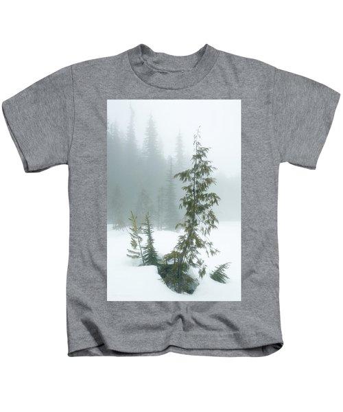 Trees In Fog Kids T-Shirt