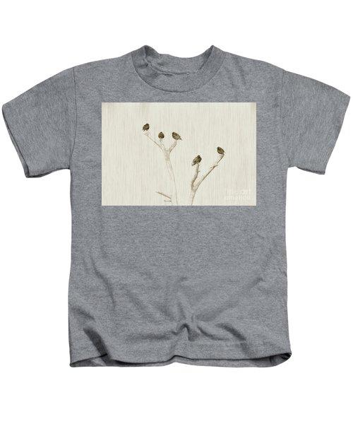 Treetop Starlings Kids T-Shirt by Benanne Stiens
