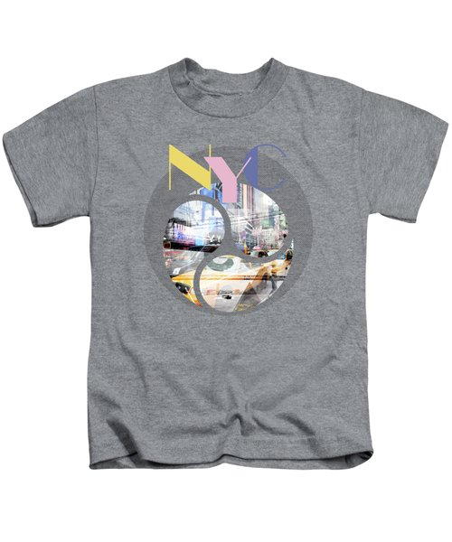 Trendy Design New York City Geometric Mix No 1 Kids T-Shirt by Melanie Viola