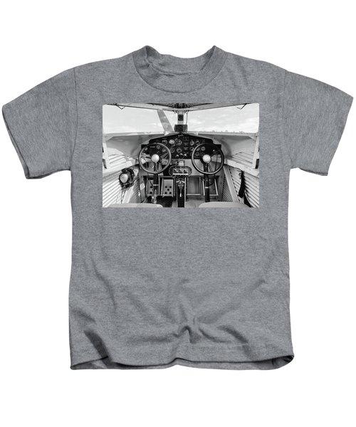 Tri-motor Cockpit - 2017 Christopher Buff, Www.aviationbuff.com Kids T-Shirt