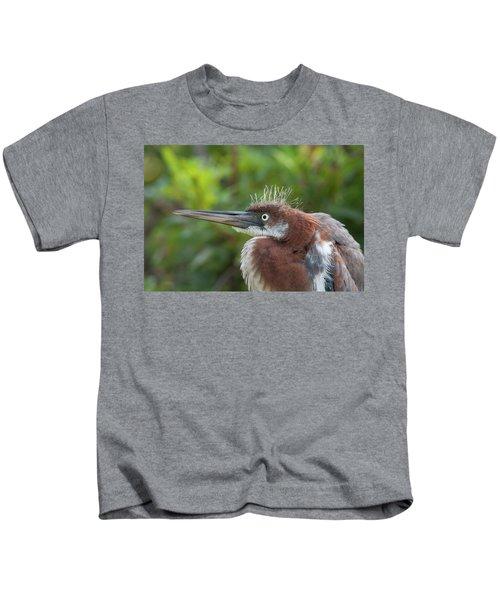 Tricolored Heron - Bad Hair Day Kids T-Shirt