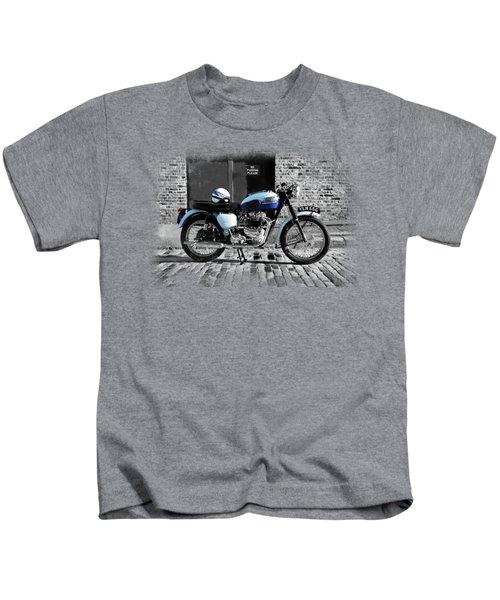 Triumph Bonneville T120 Kids T-Shirt by Mark Rogan