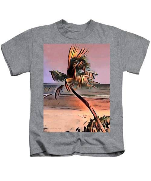 Tropical Seascape Digital Art E7717l Kids T-Shirt