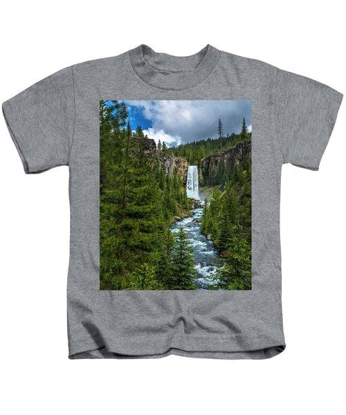 Tumalo Falls Kids T-Shirt
