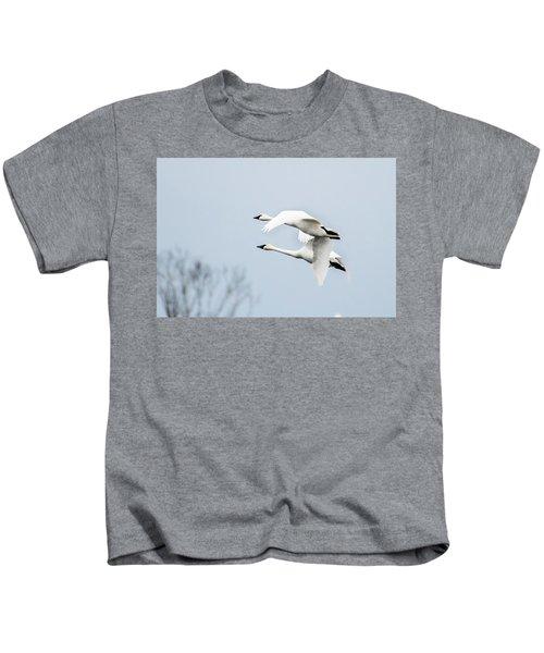Tundra Swan Lift-off Kids T-Shirt