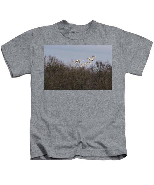 Tundra Swan Trio Kids T-Shirt