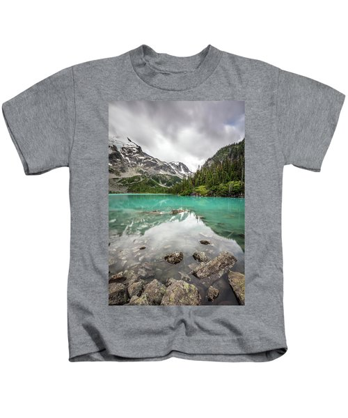 Turquoise Lake In The Mountains Kids T-Shirt