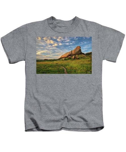 Turtle Rock At Sunset Kids T-Shirt