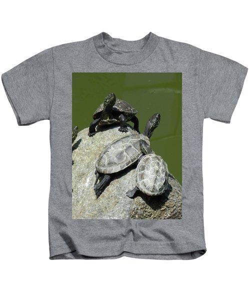 Turtles At A Temple In Narita, Japan Kids T-Shirt
