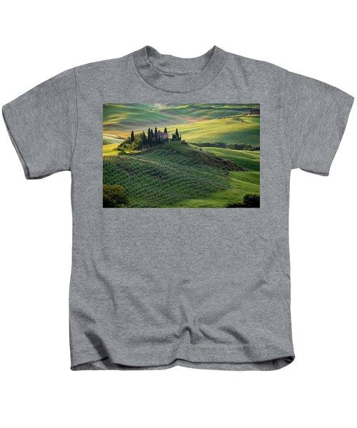 Green Hills Of Val De L' Orca Tuscan Villa Kids T-Shirt