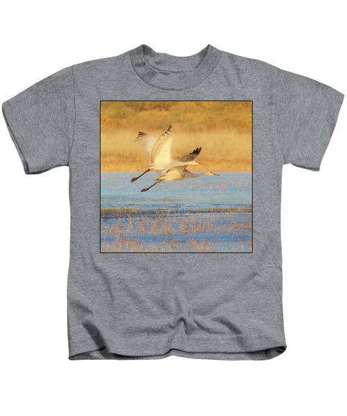 Two Cranes Cruising Kids T-Shirt