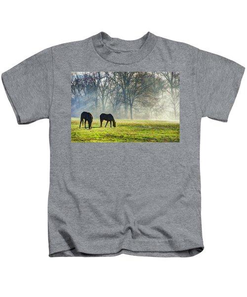 Two Horse Morning Kids T-Shirt