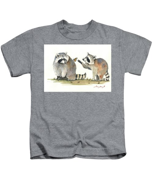 Two Raccoons Kids T-Shirt
