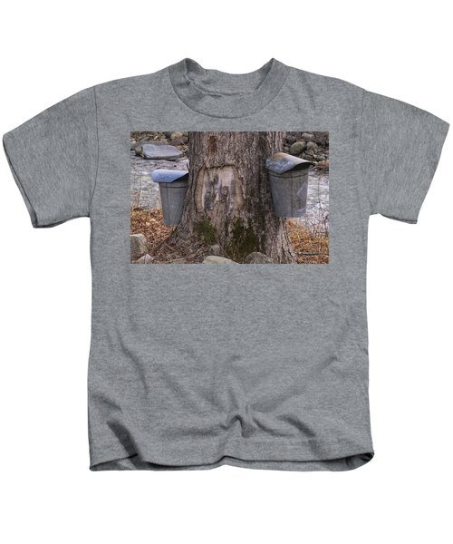 Two Syrup Buckets Kids T-Shirt