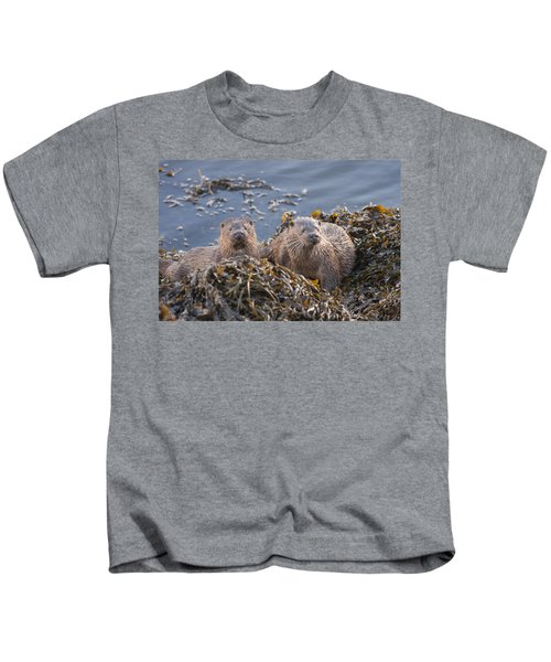 Two Young European Otters Kids T-Shirt
