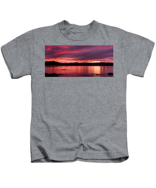 Twofold Bay Sunset Kids T-Shirt
