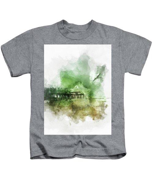 Tybee Island Pier Georgia Kids T-Shirt