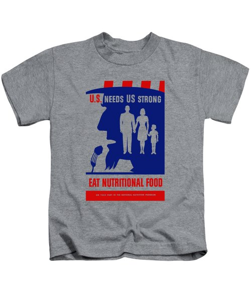 Uncle Sam - Eat Nutritional Food Kids T-Shirt